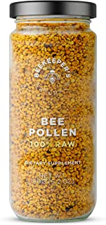 product image for BEEKEEPER'S NATURALS Bee Pollen - 100% Raw Bee Pollen Granules, Natural Preserved Enzymes, Source of Vitamin B, Minerals, Amino Acids & Protein - Paleo & Keto Friendly, Gluten Free (5.2 oz)