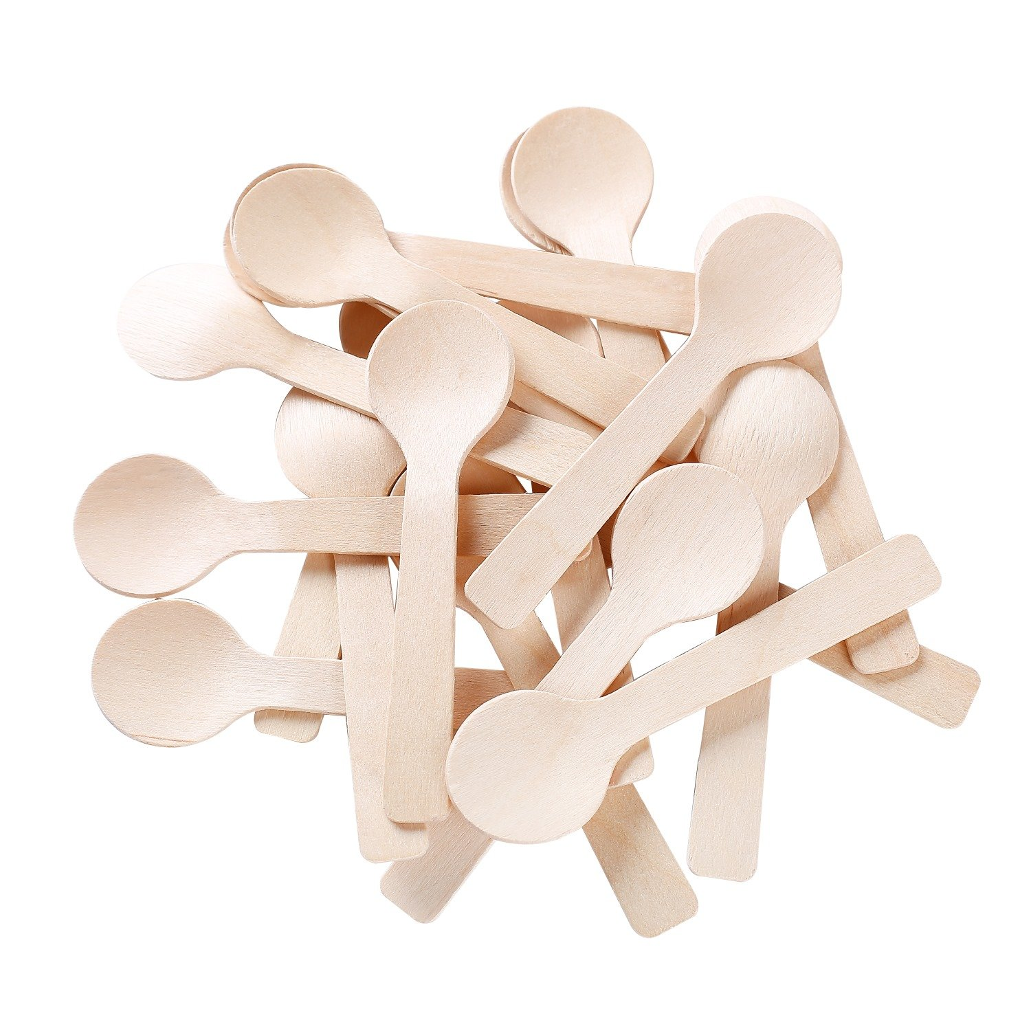 Gmark 4'' Mini Wooden Spoons 200 ct, Biodegradable Compostable Birchwood (200pcs/bag) GM1042 by Gmark