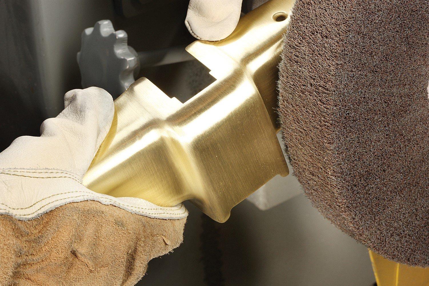 Scotch-Brite 24465 Cut and Polish Flap Brush, 8'' Diameter, Abrasive Grit, 4000 RPM, 8'' x 2'' x 3'' 5A VFN