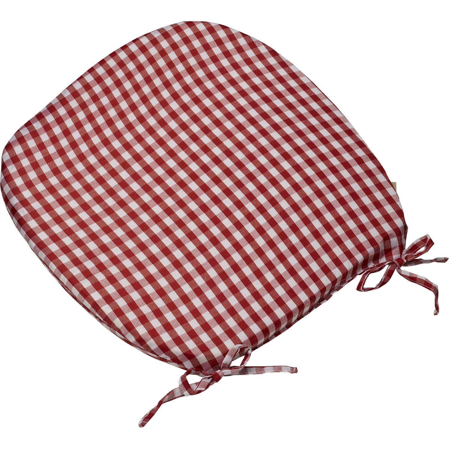 Amazon.com: Gingham Check Round Seat Pad Outdoor Garden Dining ...