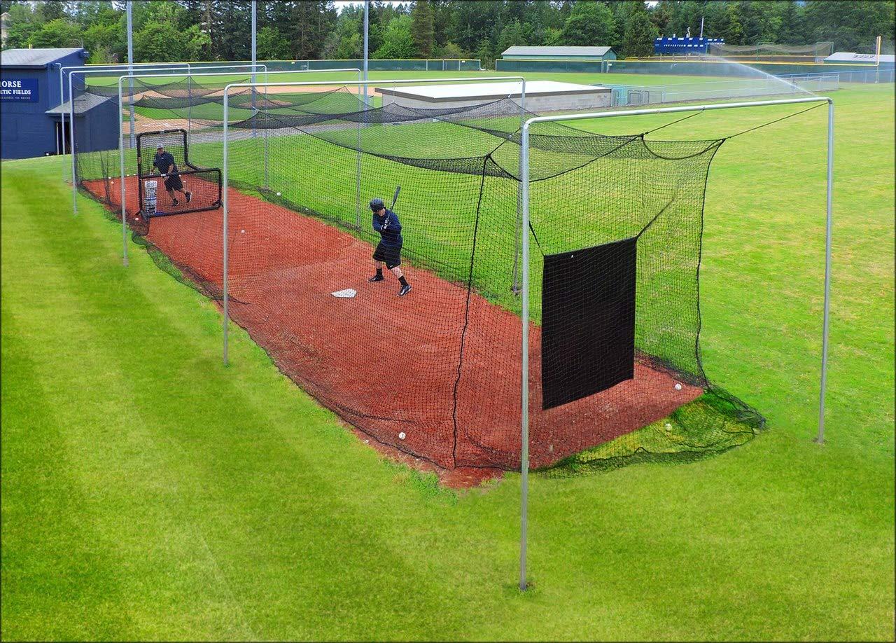 JUGS Batting Cage Nets - #42 Twisted Knotted Black Polyethylene