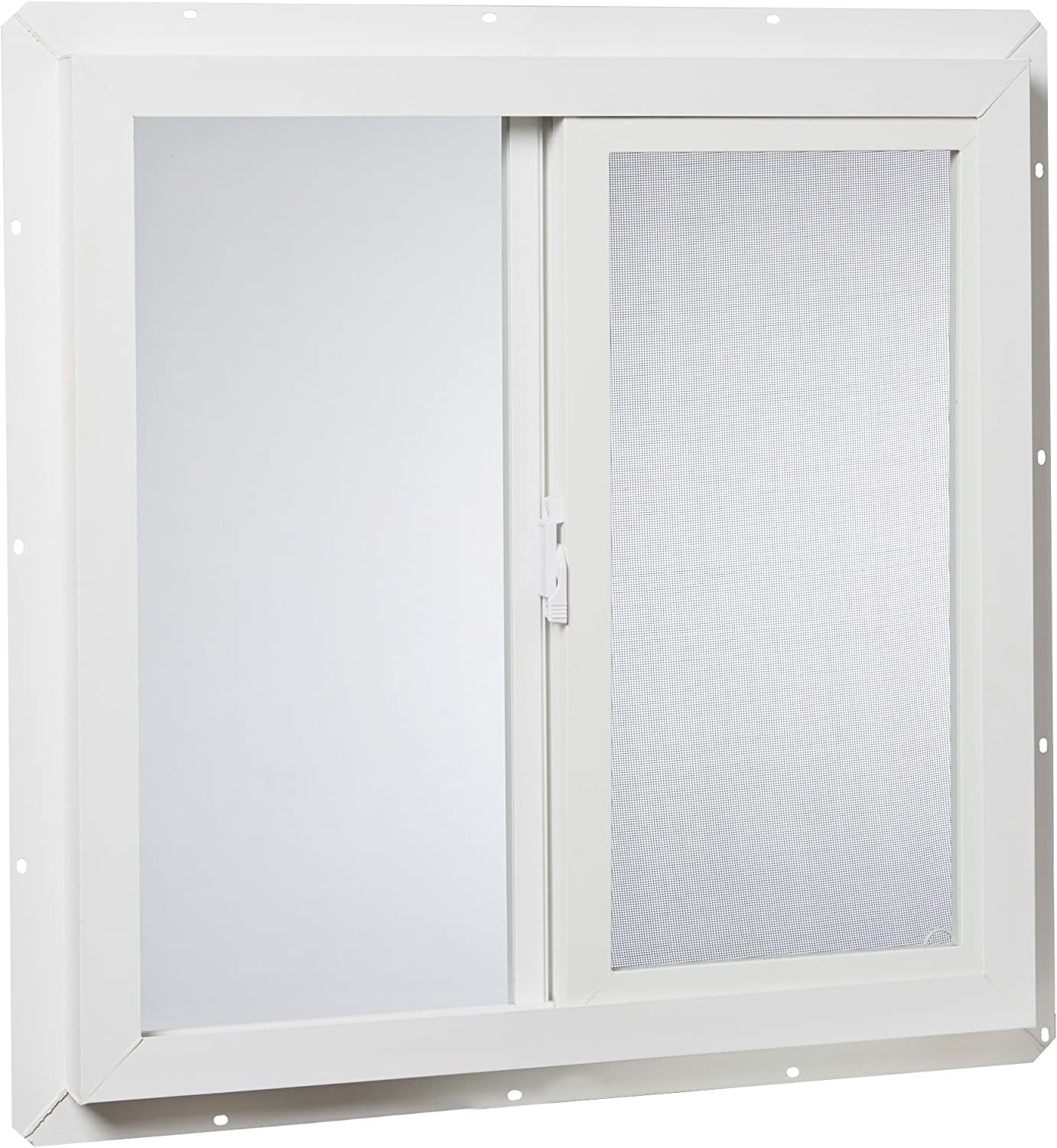 "Park Ridge Products VUSI2424PR Park Ridge Slider x 24 in. Utility Insulated Sliding Vinyl Window – White, 24"" X 24"