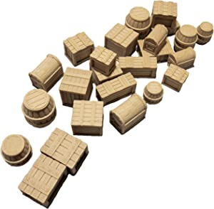 Extruded Gaming Pine Crates Barrels and Chests