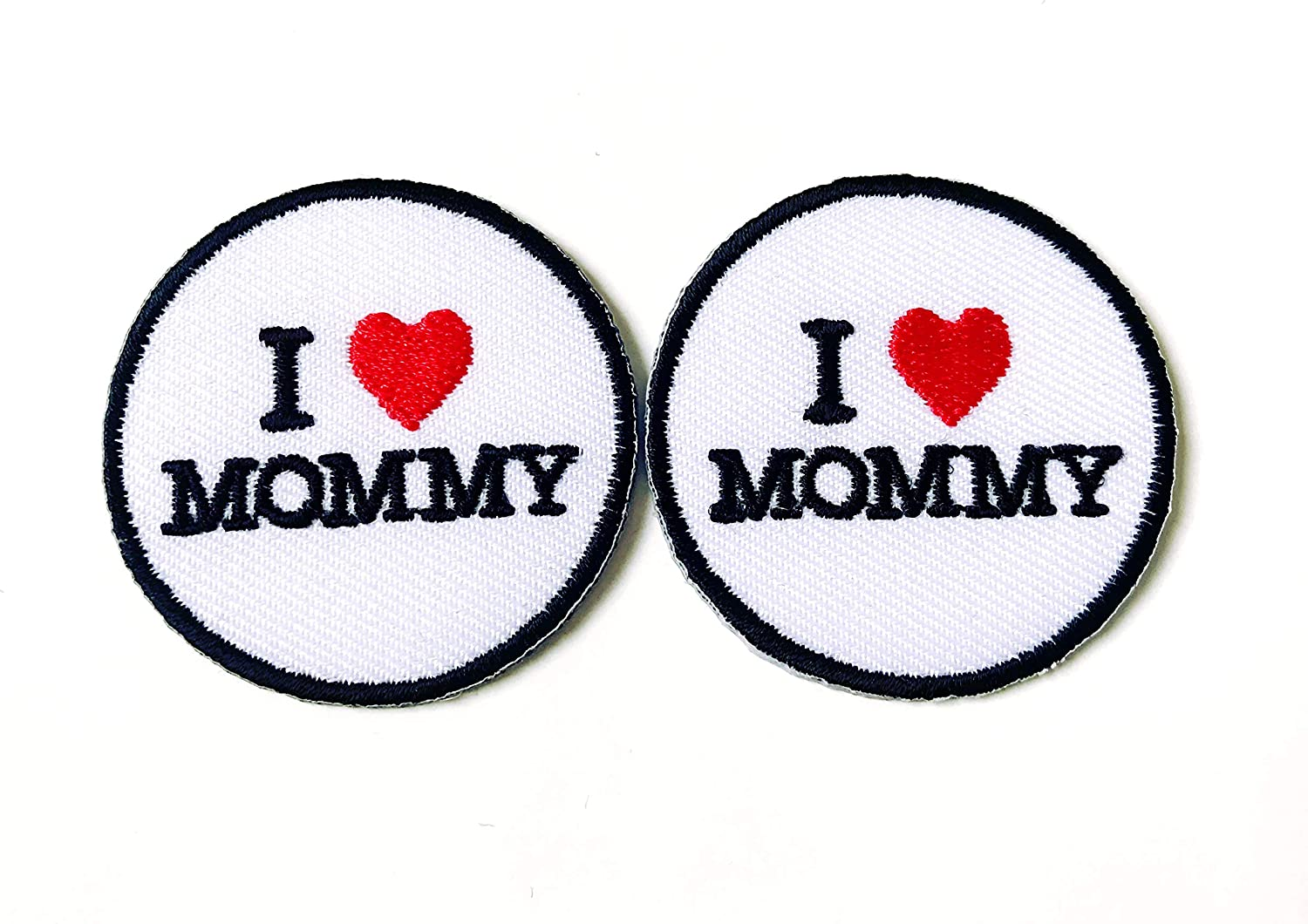 Set 2 pcs Mini-Size cartoon Funny LOVE Sew//Iron On Patch Embroidered Applique