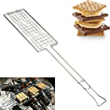 Evelyn Living S'more Maker Camping Outdoors Picnic Grilling Cooking BBQ Barbecue Grill Handle Holder