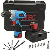 Fixtec Experto LED 12V Taladro atornillador sin cable 2 velocidades, 24 Nm, 16 + 1 ajustes de torsión, paradas rápidas, engranajes metálicos,incluye maletín de herramienta y 13 accesorios,2 Li-Ion bateria,kits de herramientas