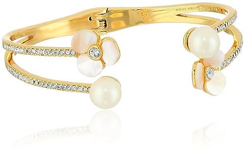 d305a738f614 Kate Spade New York doble puño crema multi-cuff pulsera: Amazon.es ...