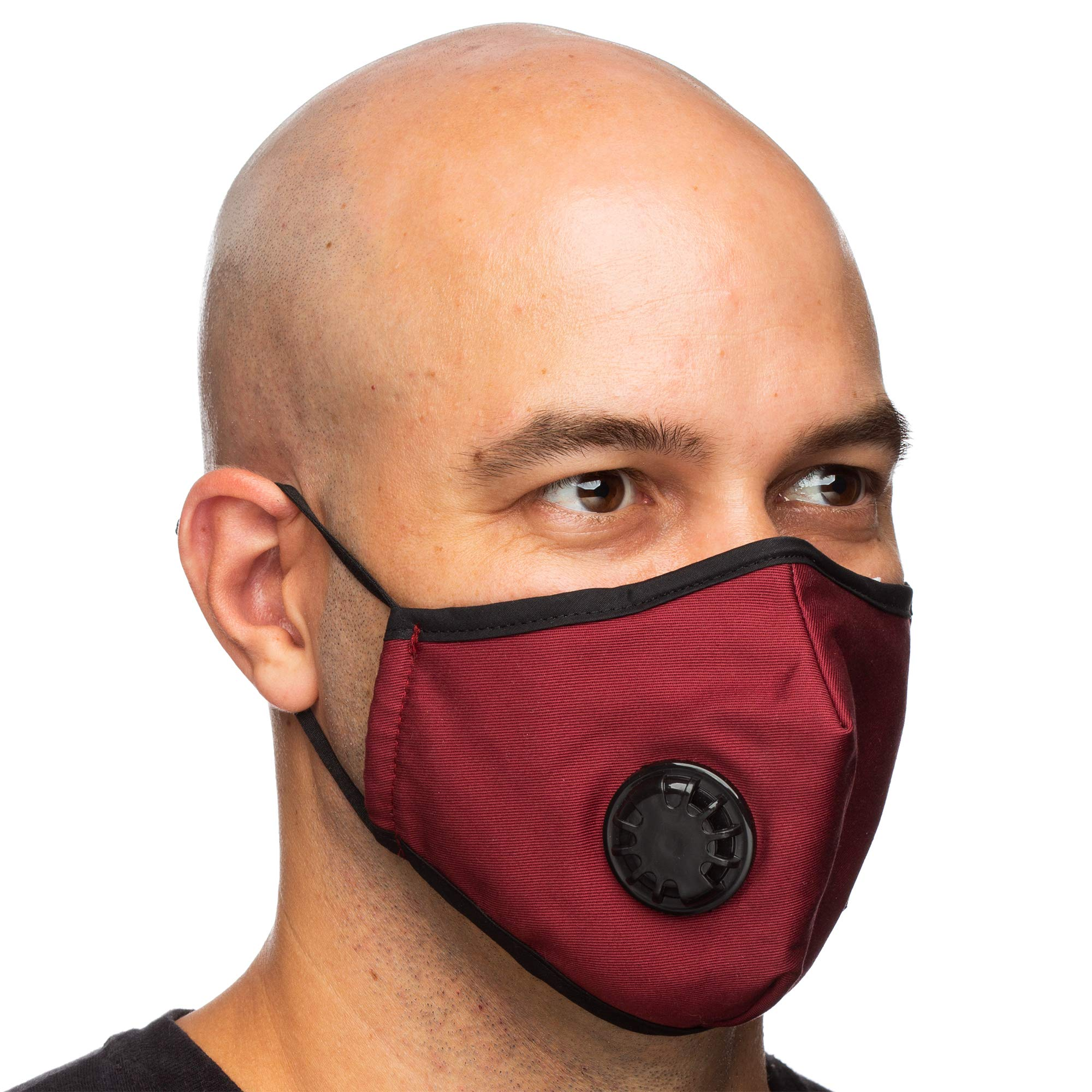 Debrief Me Military Grade N99 (4 Masks) Carbon Activated Anti Dust Face Mouth Cover Mask Respirator-Dustproof Anti-bacterial Washable -Reusable Respirator Comfy-Cotton(N99-4Color) by Debrief Me (Image #5)