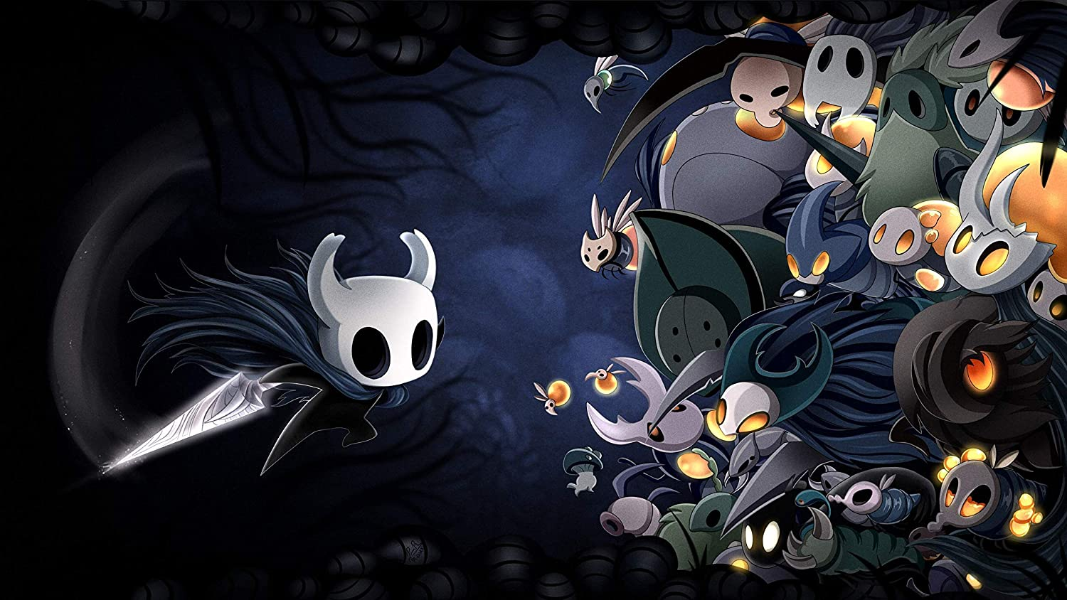 Hollow Knight poster digital wall art merchandise for gifts and room decor