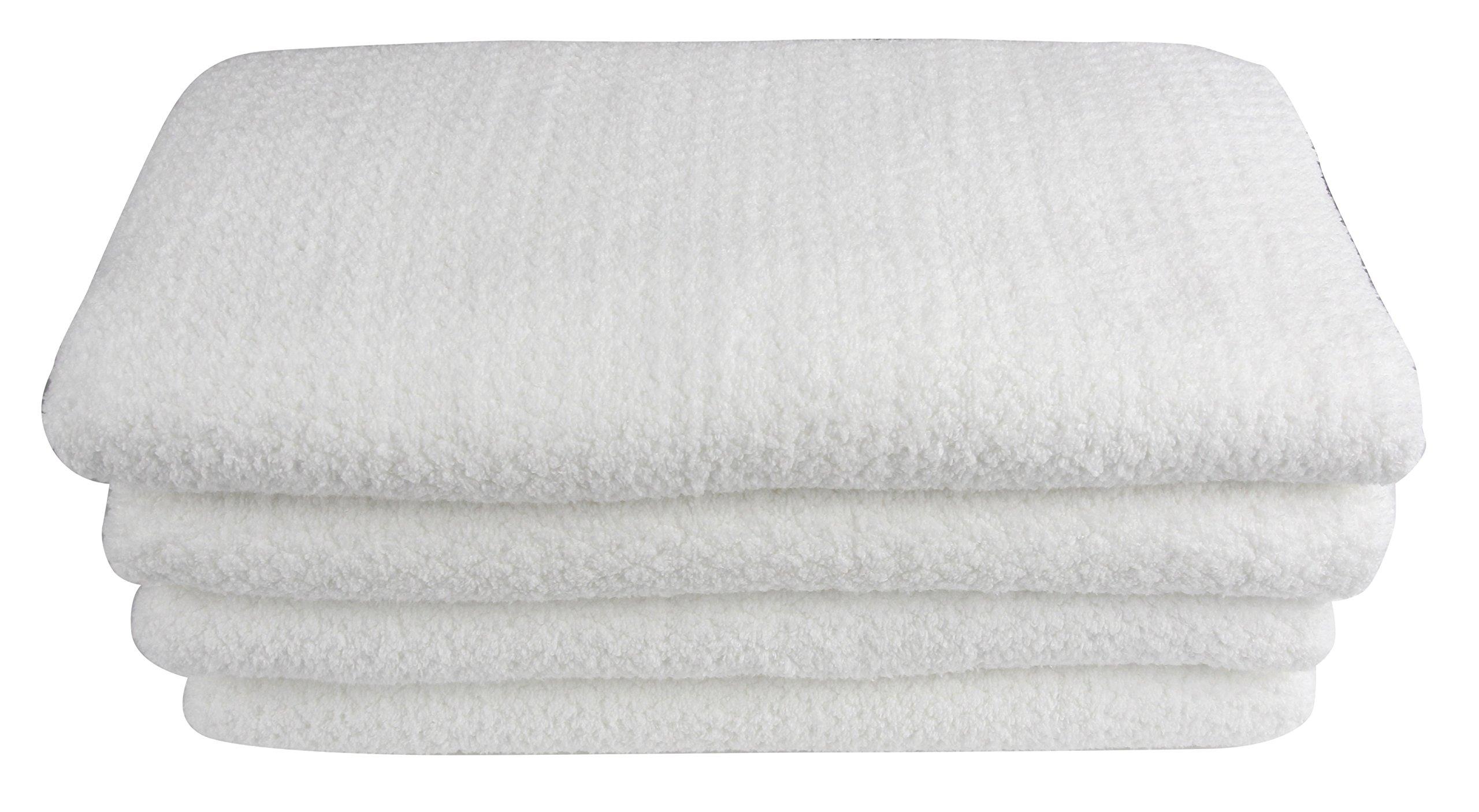 Everplush Diamond Jacquard Bath Sheet 2 Pack in White by Everplush (Image #1)