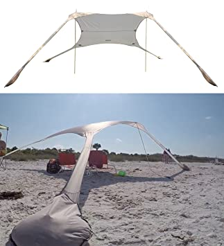 FUNS Portable Stakeless Windproof Beach Sunshade and Gazebo Tent - 10u0027 X 10u0027 -  sc 1 st  Amazon.com & Amazon.com: FUNS Portable Stakeless Windproof Beach Sunshade and ...