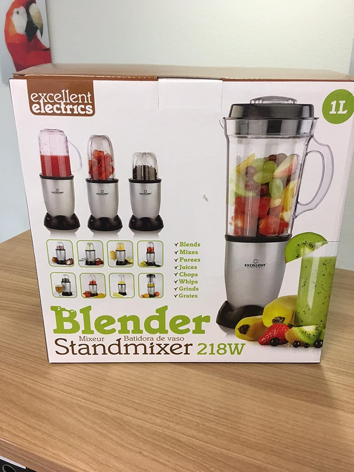 Batidora Smoothie maker Licuadora Blender Acero Inoxidable - 218 W - molali Edition: Amazon.es: Hogar