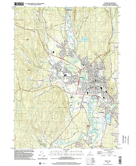 Amazon.com : YellowMaps Keene NH topo map, 1:24000 Scale, 7.5 X 7.5 on