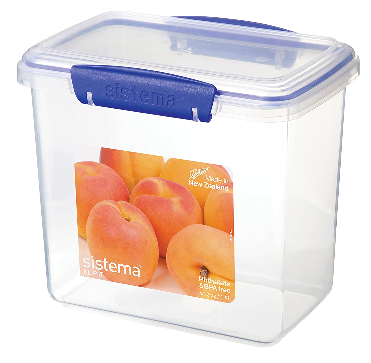 Exceptionnel Amazon.com: Sistema 1680 Klip It Collection Rectangle Food Storage  Container, 64.2 Ounce: Kitchen U0026 Dining