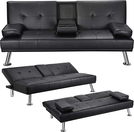 Yaheetech Convertible Futon Sofa