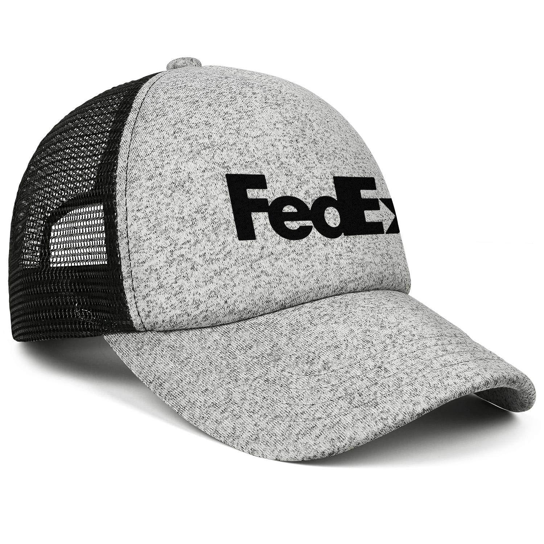 AOAOAOUV Men Unisex Adjustable FedEx-Federal-Express-Black-Logo-Baseball Caps Outdoor Flat Hats