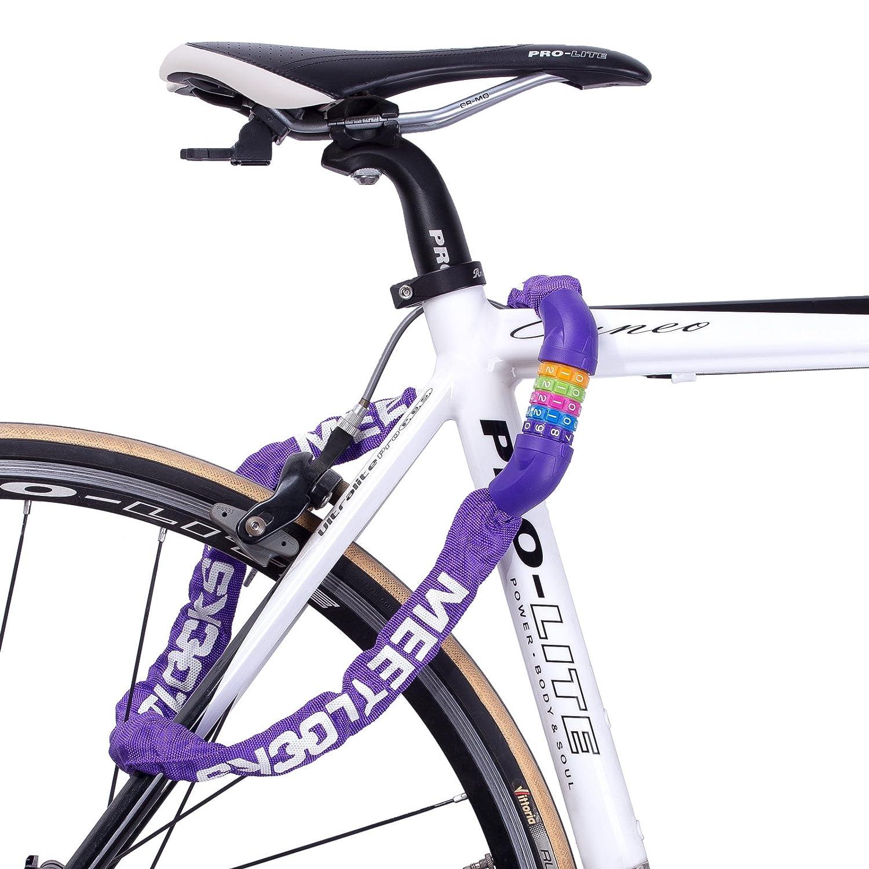 Combinaci/ón Cadena de Bicicleta Bloqueo Motocicleta