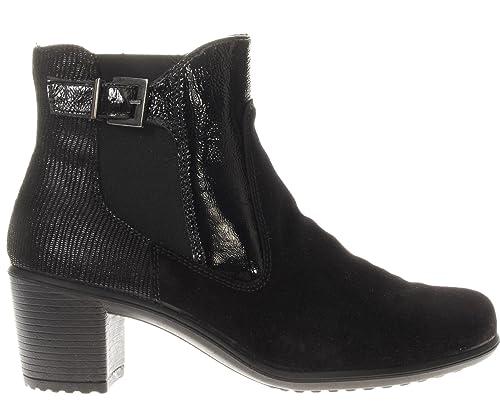ENVAL SOFT scarpe donna stivaletti con tacco 89321 00 NERO  Amazon.it   Scarpe e borse a8b6d3b8db3
