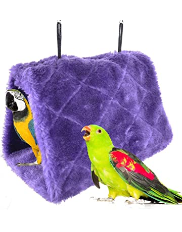 Bird Cages & Nests 3size Soft Plush Bird Parrot Warm Hut Hammock Warm Hanging Bed For Pet Cave Cage Hut Tent Toy Dot Decoration House High Quality Bird Supplies