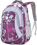 Unisex Zaino Scuola per Elementare e Media impermeabile Schoolbag Casuale per Ragazze Scuola Borse Zaini Borsa Scuola Borse da Viaggio (Viola)