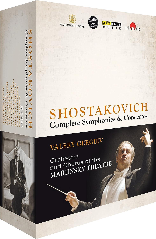 ヴァレリー・ゲルギエフ&マリインスキー劇場管弦楽団 ショスタコーヴィチ:交響曲全集+協奏曲全集[Blu-ray,4Discs]