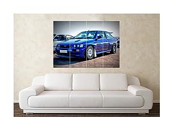 Tamaño grande Ford Escort RS Cosworth Turbo para el coche Póster diseño de: Amazon.es: Hogar