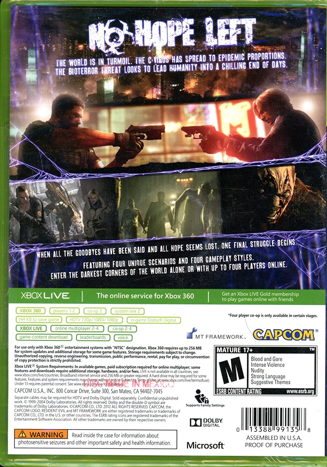 Amazon.com: Resident Evil Xbox 360: Video Games