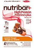Nutribar Original Nutribar+ High protein meal Replacement Bars, Caramel Nougat, 4 Bars 4 count