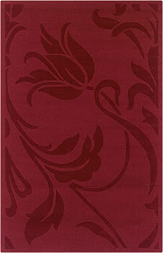 Rizzy Home PL0469 Platoon 2-Feet 6-Inch by 8-Feet Area Rug, Red