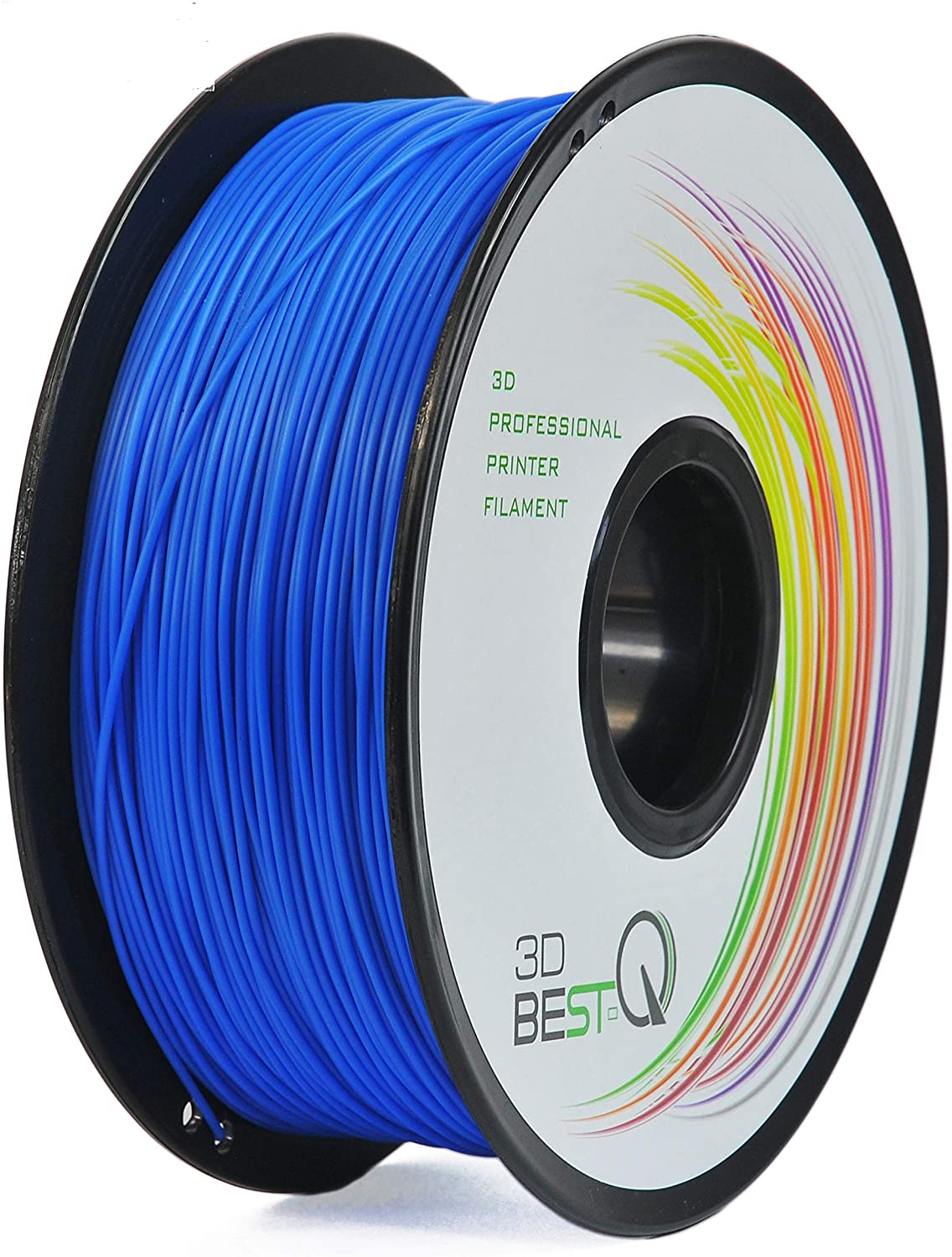 3D BEST-Q PLA 1.75mm 3D Printer Filament, Dimensional Accuracy +/- 0.03 mm, 1KG Spool,16 Color to Choose (Blue)