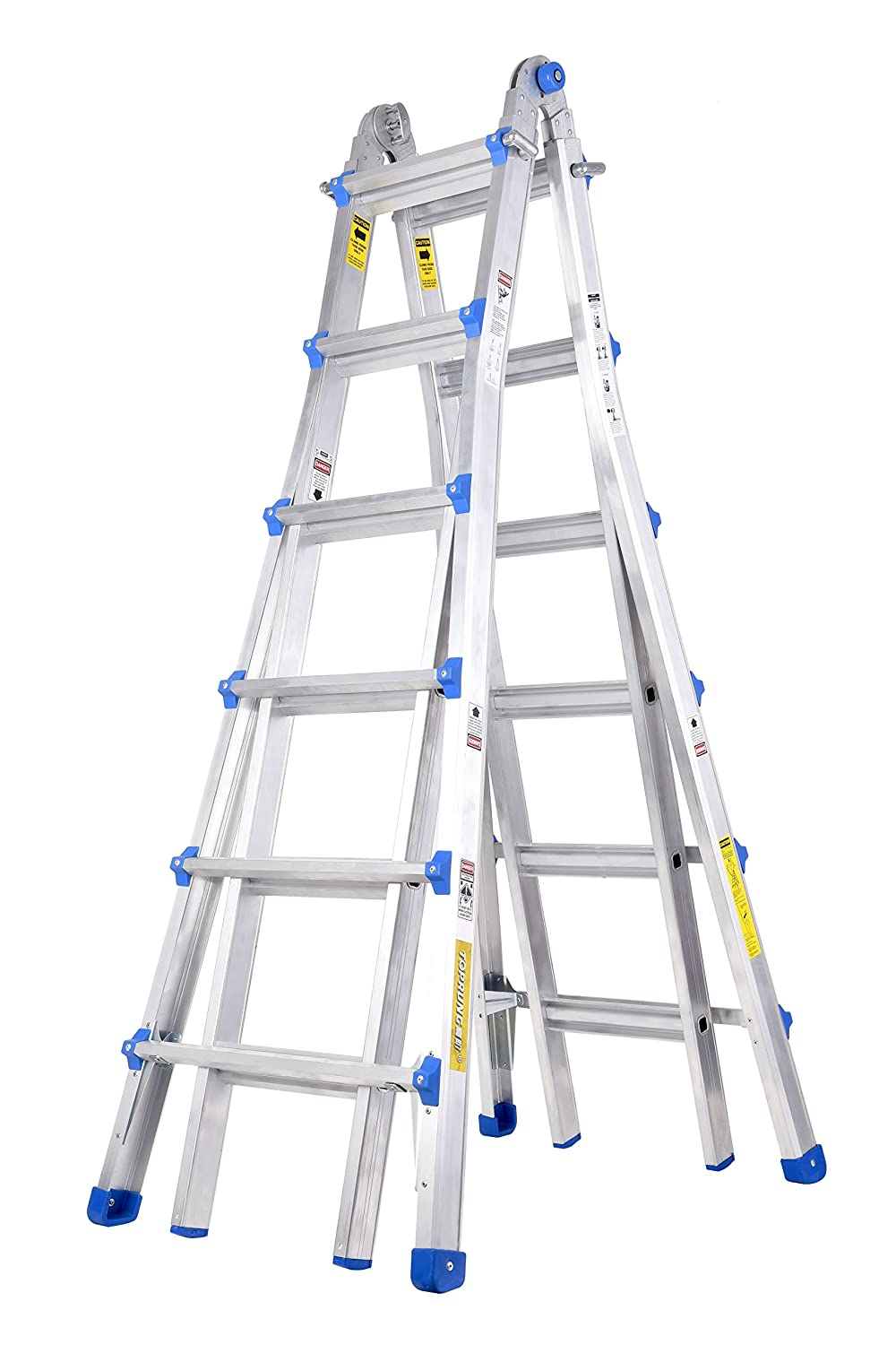 Toprung Model 26 Ft Aluminum Extension Multi Purpose Ladder With 300 Lb Load Capacity Type 1a Duty Rating Amazon Com