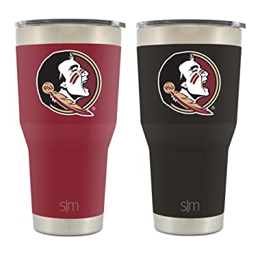 Simple Modern Florida State University 30oz Cruiser Tumbler 2-Pack - Vacuum Insulated Stainless Steel Travel Mug - FSU Seminoles Tailgating Hydro Cup College Flask