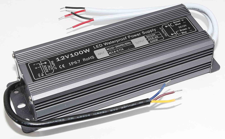 Lowenergie LED Transformer Driver Waterproof in/Out Door Power Supply (12V DC 150 WATT 12.5A)