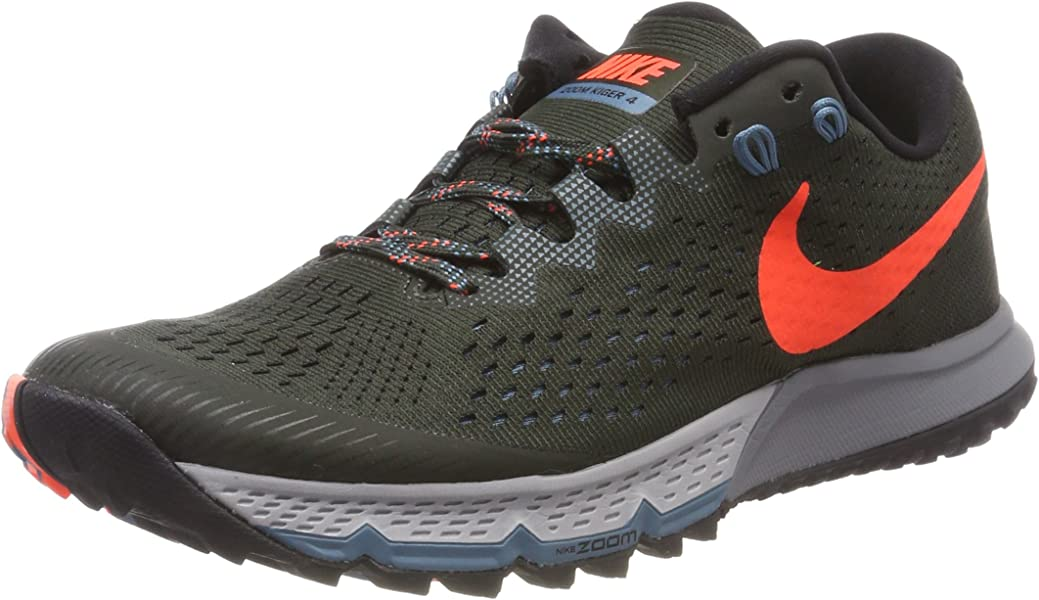 super popular c0462 02bc3 Nike Mens Air Zoom Terra Kiger 4 Trail Running Shoes, (SequoiaBlackNoise  AquaTotal Crimson 300), 7 UK 41 EU Amazon.co.uk Shoes  Bags