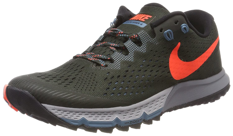 Nike Air Zoom Terra Kiger 4, Zapatillas de Running para Asfalto para Hombre 42.5 EU|Negro (Sequoia/Total Crimson-black-noise Aqua 300)