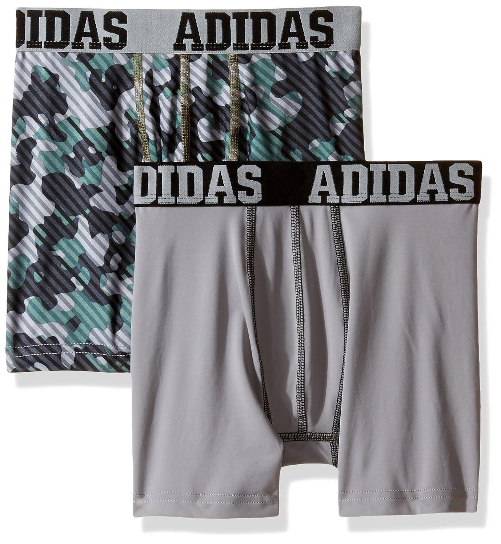 adidas Boys Sport Performance Climalite Boxer Brief Underwear (2 Pack) Agron Underwear 200570-P