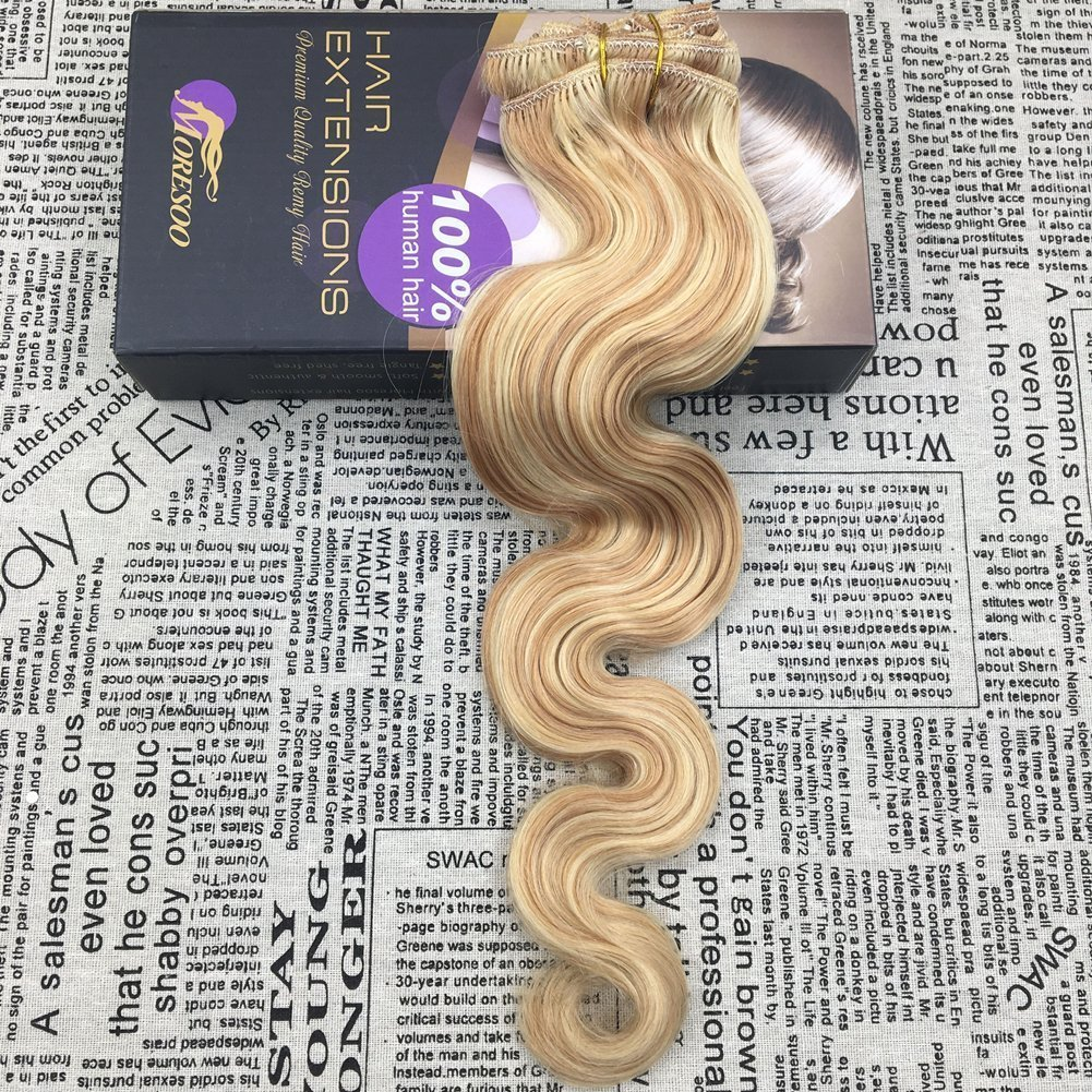 Amazon Moresoo 14 Inch Real Remy Clip In Hair Extensions 120g