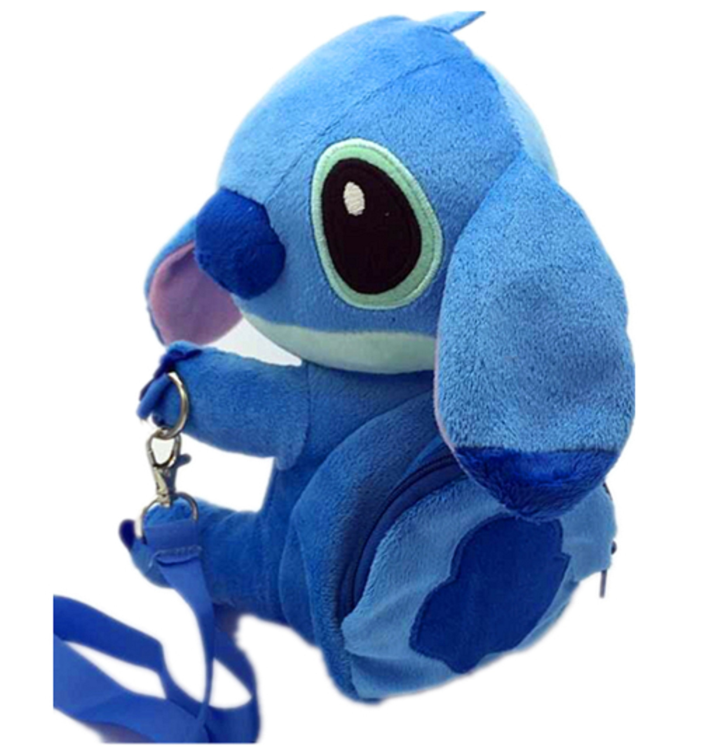 Disney Stitch Set . Soft Plush Crossbody/Shoulder Mini Bag with Small Pocket + Stitch Watch For kids. H 9''. Limited Edition. by LILO & STITCH (Image #7)