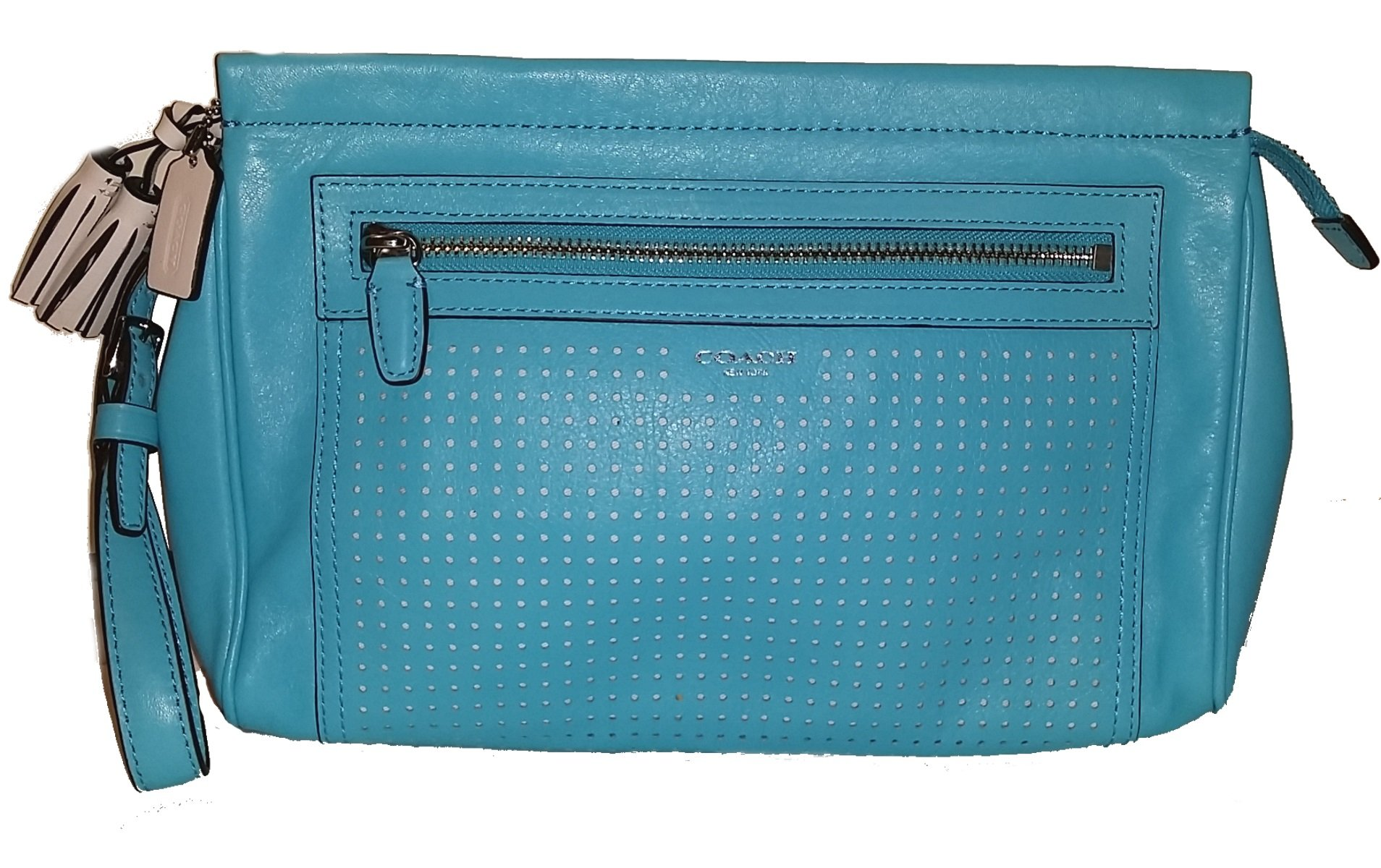 Coach Legacy Perforated Leather Clutch Wristlet Cosmetic Case by Coach