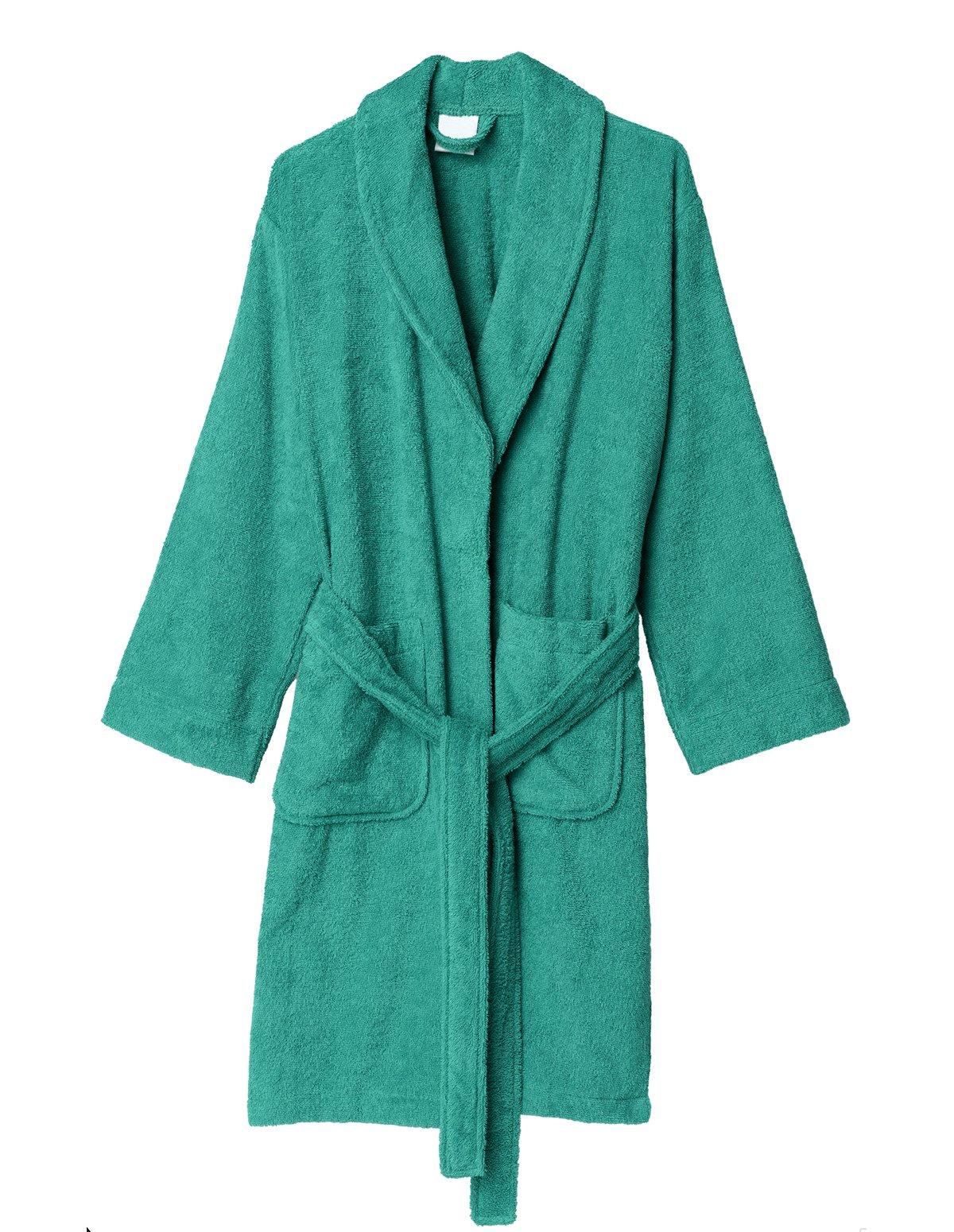 TowelSelections Women's Robe, Turkish Cotton Short Terry Bathrobe Large Arcadia