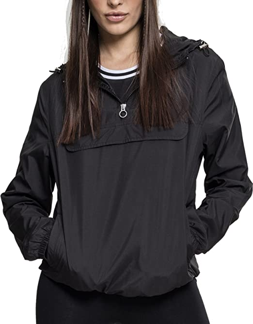 Urban Classics Ladies AOP Mixed Pull Over Jacket Giacca Donna