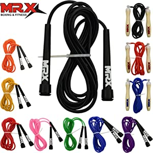 "MRX 9"" PVC Jump Rope for Cardio Fitness - Versatile Jump Rope for Both Kids and Adults - Great Jump Rope for Exercise"