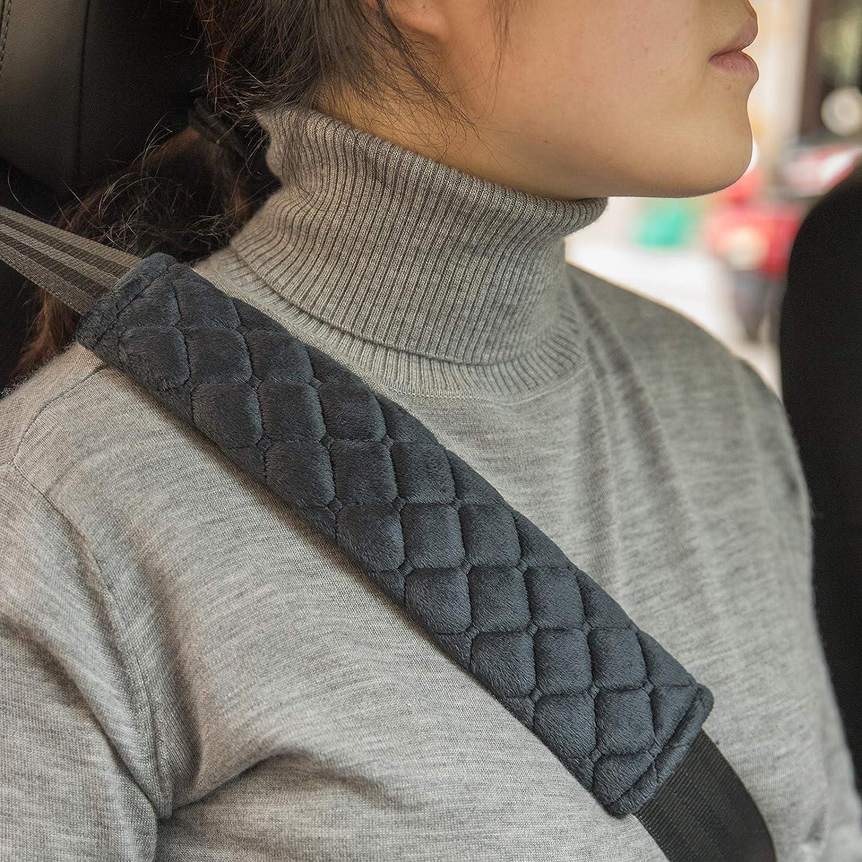 Details about  /2Pc Shoulder Pad Car Seat Belt Comfortable Driving Soft Plush Seatbelt Strap