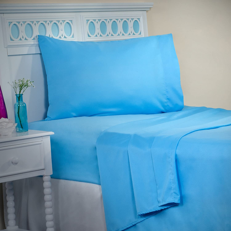 Lavish Home Series 1200 3 Piece Twin X-Large Sheet Set, Blue