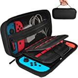 Hestia Goods Nintendo Switch Hard Carrying Case with 20 Game Cartridges, Protective Hard Shell Travel Carrying Case Pouch for Nintendo Switch Console & Accessories, Black