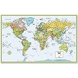 Amazoncom World Map with Latitude and Longitude Laminated 36