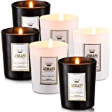 Kenking Scented Candle 6 Pack Gift Set, IncludesWood Sage & Sea Salt,Peony & Cherry Blossoms .20 Hours Burn Time Per Cup, 6 x 70 g for Stress Relief, Christmas Gift