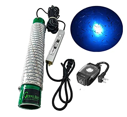 Green Blob Outdoors Blue Dock 15000 Lumen LED Underwater 110 Volt AC Fishing Light with Timer