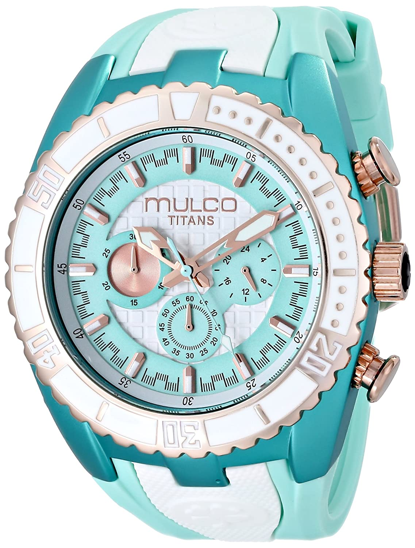 MULCO Unisex MW5-1836-433 Titan Wave Analog Display Japanese Quartz Blue Watch