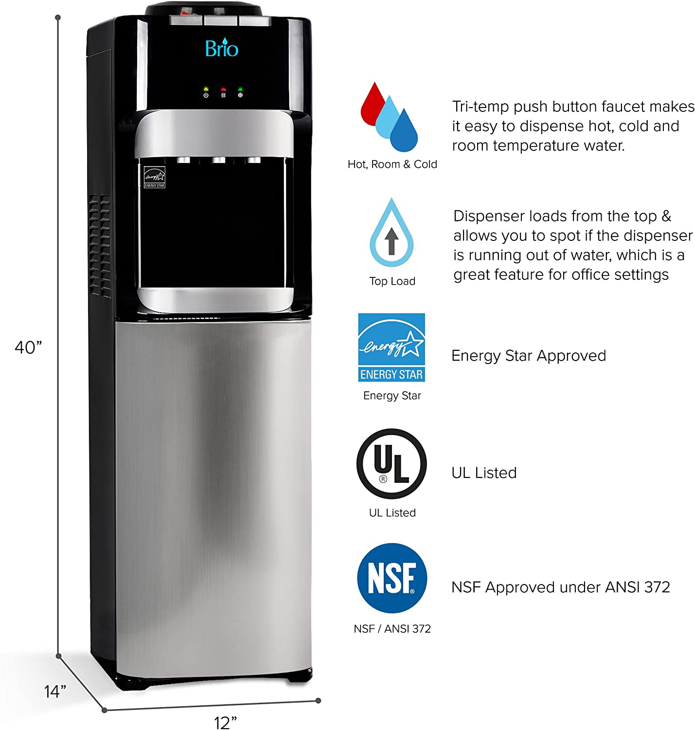 Brio CLTL420 Free-Standing Water Dispenser Reviews